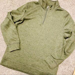 {CROFT & BARROW} Cozy Green Quarter Zip Pullover
